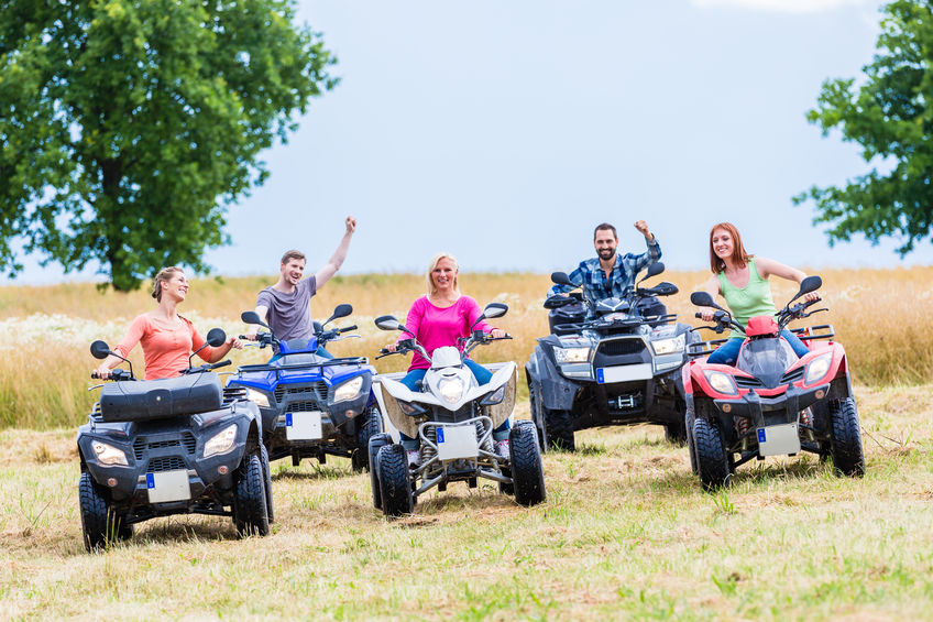 Rice Tire Family and Friends riding Four Wheelers