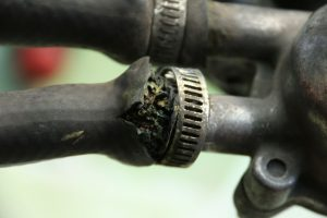 Rice tire worn out hoses