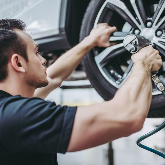Rice Tire Wheel Removal and Inspection